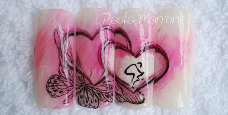 Paola Marrone Nail Art Cuore