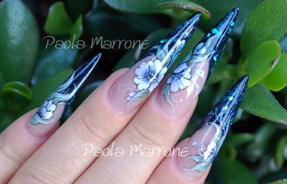 nail art fiori 1