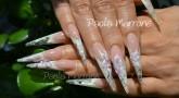 Nail Art con Applicazioni, Fiori e Perle